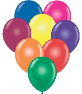 "17"" Crystal Assorted Tuf Tex Latex Balloons 50 Per Bag"
