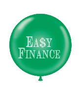 "36"" Tuf Tex Latex Balloon 2 Count Easy Finance (Green)"