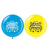 "36"" Latex Balloon 2 Count Grand Opening (Blue, Yellow)"