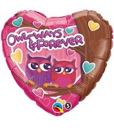 "18"" Owl-Ways & Forever Packaged Mylar Balloon"