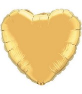 "36"" Heart Foil Mylar Balloon Metallic Gold"