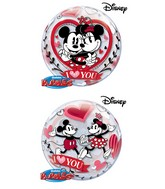 "22"" Mickey and Minnie I Love You Bubble Balloon"