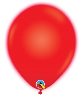 "10"" Q-Lite Red 5 Count Qualatex Light Up Latex Balloons"