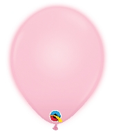 "10"" Q-Lite Pink 5 Count Qualatex Light Up Latex Balloons"
