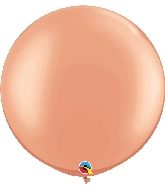 "30"" Qualatex Latex Balloons Metallic Rose Gold 02CT"