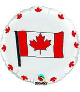 "18"" Canada Flag Packaged Mylar Balloon"