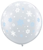 "36"" Winter Snowflakes Latex Balloons"