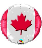 "18"" Maple Leaf Packaged Mylar Balloon"
