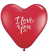 "15"" I Love You Script Modern Ruby Red (50 ct.) (Heart)"