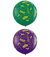 "36"" Mardi Gras Party-A-Round Assorted (2 ct.)"