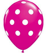 "11"" Big Polka Dots Wild Berry (50 ct.)"