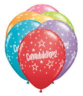"11"" Congratulations Star Festive Assorted (50 count)"
