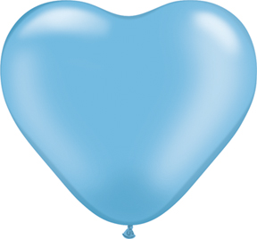 "6"" Heart Latex Balloons (100 Count) Pearl Azure"