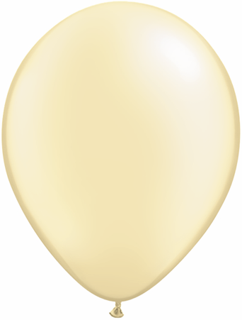 "16""  Qualatex Latex Balloons  Pearl IVORY       50CT"