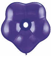 "6"" Geo Blossom Latex Balloons  (50 Count) Quartz Purple"