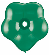 "6"" Geo Blossom Latex Balloons  (50 Count) Emerald Green"