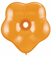"6"" Geo Blossom Latex Balloons  (50 Count) Mandarin Orange"