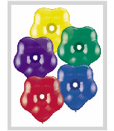 "16"" Geo Blossom Latex Balloons  (50 Count) Radiant Assort"