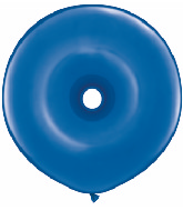 "16"" Geo Donut Latex Balloons (25 Count) Sapphire Blue"