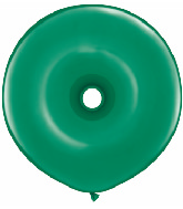 "16"" Geo Donut Latex Balloons (25 Count) Emerald Green"