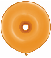 "16"" Geo Donut Latex Balloons (25 Count) Mandarin Orange"