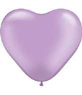 "6"" Heart Latex Balloons (100 Count) Pearl Lavender"
