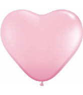 "6"" Heart Latex Balloons (100 Count) Pink"