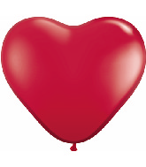 "6"" Heart Latex Balloons (100 Count) Ruby Red"