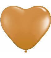 "6"" Heart Latex Balloons (100 Count) Mocha Brown"