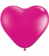 "6"" Heart Latex Balloons (100 Count) Jewel Magenta"