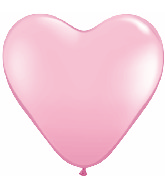 "15"" Heart Latex Balloons (50 Count) Pink"