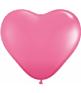 "11"" Heart Latex balloons (100 Count) Rose"
