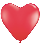 36 Inch Heart Latex Balloons (2 Count) Red