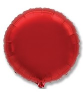 "32"" Jumbo Metallic Red Circle"