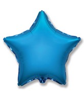 "32"" Jumbo Metallic Blue Star"