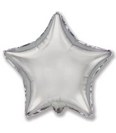 "32"" Jumbo Metallic Silver Star"