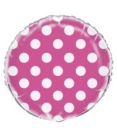 "18"" Hot Pink Polka Dots Balloon"