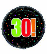 "18"" 30th Birthday Cheer Foil Balloon"