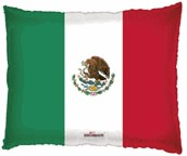 "22"" Shape Bandera Mexicana Balloon"