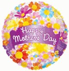 "18"" Balloon Happy Mother's Day Banner & Flowers"