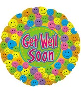 "18"" Get Well Soon Smiley Faces"