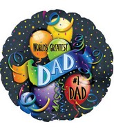 "18""  World's Greatest Dad Balloon"