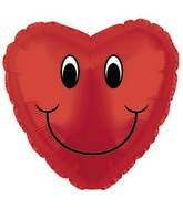 "4"" Airfill Smiley Face Heart M95"