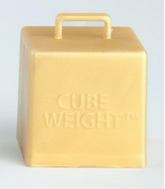 65 Gram Cube Balloon Weights Gold 10 Count
