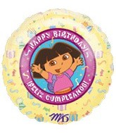 "18"" Dora Explorer HBD Spanish Balloon"