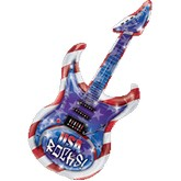 "41"" USA Rocks Guitar Shape Mylar Balloon"