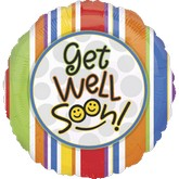 "18"" Get Well Soon Smiles Mylar Balloon"