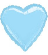 "32"" Large Balloon Pastel Blue Heart"