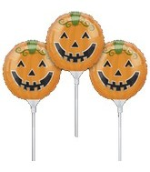 "9"" EZ Fill Airfill Halloween Pumpkin Sticks(3 Pack)"