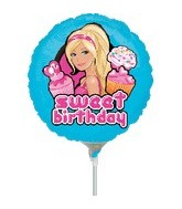 "9"" Mini Balloon (Airfill Only) Barbie Birthday"